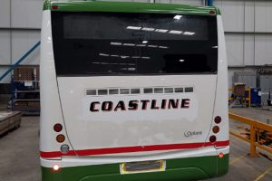Coastline Bus Graphics Wrapping Rear