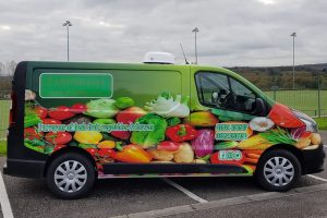 Earnshaws Veg Van Wrap Side Graphics
