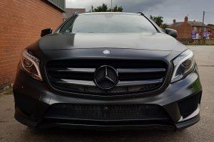 Mercedes GLA Satin Black Wrap Front