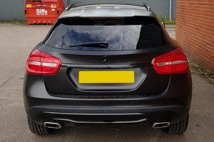 Mercedes GLA Satin Black Wrap Rear