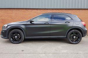 Mercedes GLA Satin Black Wrap Side