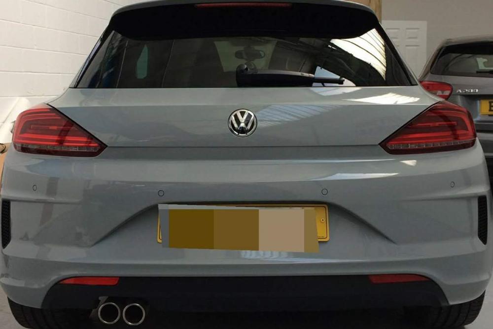 Volkswagen Scirocco Nardo Grey Wrap Rear
