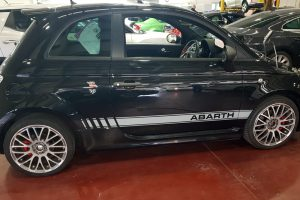 Fiat 500 Abarth Black Graphics Fitted